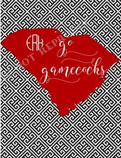 Go Gamecocks; University of South Carolina; folded notecard