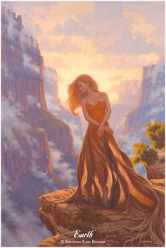 ✯ Elemental Goddess of the Earth .. Artist Jonathon Earl Bowser ..✯