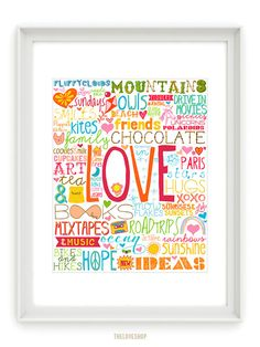 LOVE!!   From The Love Shop at Etsy.