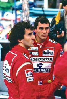 Alain Prost and Ayrton Senna Alain Prost, Formula 1, Gp F1, One Championship, F1 Drivers, Automobile, F1 Racing, Car And Driver, Vintage Racing