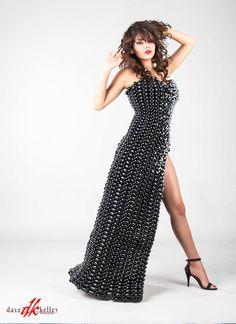 www.facebook.com/CustomBalloonDresses -- Model:  Marcela, Photographer:  Dave Kelley