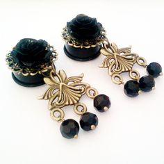 Black Tribal 13/16 inch 20mm Dangly Plugs For by Glamsquared, $32.00
