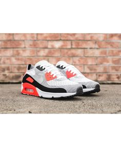 sale retailer fd64c 730b8 See more. Women s Nike Air Max 90 Ultra 2.0 Flyknit White Bright  Crimson Black Wolf