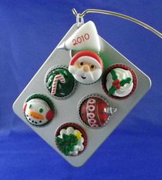 """Hallmark ornament, #2 in their SO cute """"Season's Treatings"""" Christmas baking-related series.  Christmas cupcakes!  Want to eventually get one of these from eBay."""