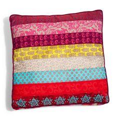 Coussin en tissu multicolore 40 x 50 cm ZANGORA | Maisons du Monde