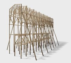 Rising from the limpid depths of Lake Zurich, Jan Zachmann's restaurant beckons to potential diners on the shore Detail Architecture, School Architecture, Beautiful Architecture, Architecture Models, Maquette Architecture, Structural Model, Mother Art, Timber Structure, Bridge Design