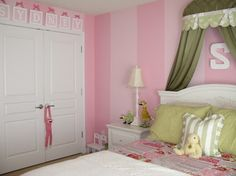Pink And Orange Girls Room Design, Pictures, Remodel, Decor and Ideas - page 7