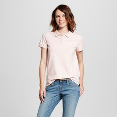 Women's Polo Shirt Light Pink XL - Mossimo Supply Co.