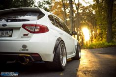 Do whatever is necessary to find more grip. Zach's Subaru WRX STi gets traction from a set of 335/30ZR18 Toyo R888 tires on 18x12 Forgeline GA3R wheels finished with Titanium centers and Polished outers. See more at: http://www.forgeline.com/customer_gallery_view.php?cvk=1371 Photos courtesy of Zachary Emerick Photography. #Forgeline #GA3R #notjustanotherprettywheel #madeinUSA #Subaru #WRX #STi