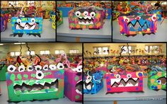 Love the monster with tissue paper boxes!