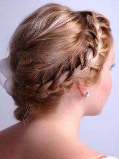 i loveeee  (side French braid with a larger one down the middle for the rest of your hair)