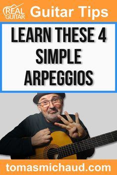 Arpeggios help you visualize the fretboard on a guitar in an entirely new way. Learning arpeggios can be a huge help in learning to improvise on guitar. If you're not familiar with arpeggios, they are simply a chord being played one note at a time. Sometimes the notes will ring out into each other, and sometimes they won't. Like you'll learn in this guitar lesson, sometimes they'll be played in new and exciting shapes! This guitar lesson teaches 4 simple arpeggios. Play Guitar Chords, Learn Acoustic Guitar, Learn To Play Guitar, Guitar Lessons For Beginners, Music Lessons, Guitar Online, Cool Electric Guitars, Singing Tips, Guitar Tips