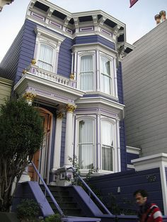 Purple Victorian in Mission District by javacolleen, via Flickr