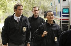 Still of Sean Murray, Michael Weatherly and Cote de Pablo in NCIS