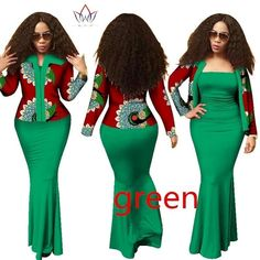 BRW 2017 Autumn African Dresses for Women dashiki 2 Piece Dress Crop Top Long Dress Suits Plus Size Traditional Clothing African Fashion Designers, Latest African Fashion Dresses, African Inspired Fashion, African Dresses For Women, African Print Dresses, African Print Fashion, African Attire, African Wear, African Women