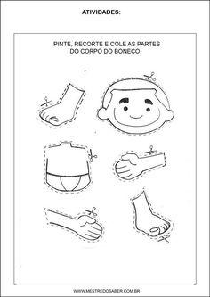 Sequência Didática esquema corporal na educação infantil - Quebra cabeça corpo humano