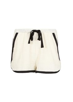 Sea NY ivory and black elasticated shorts