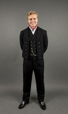 Herrebunad fra Vest-Telemark Folk Costume, Costumes, Vest, Traditional, Formal, Style, Fashion, Preppy, Moda