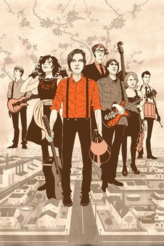 Arcade Fire Digital Print by PencilPaperInk on Etsy, $15.00