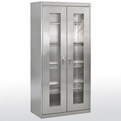 When selecting commercial and industrial cabinets, the primary consideration is how durable or tough does it need to be for the application. Sandusky Storage Cabinet include characteristics like: Material: Stainless Steel. Industrial Storage Cabinets, Ikea Storage Cabinets, Wood Cabinets, Cupboards, Supply Room, Affordable Storage, Stainless Steel Cabinets, Cabinet Styles, Cabinet Handles