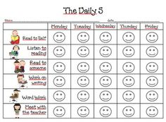 Daily 5 first grade | Daily Five / First Grade Dual: The Daily 5