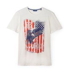 Flag motif t-shirt, white, Tom Tailor Mens Printed T Shirts, Flags, Mens Tops, Prints, Fashion, Moda, Fashion Styles, National Flag, Fashion Illustrations