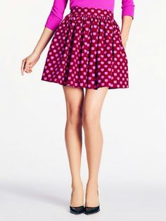 $128 LITTLE SKIRT WITH APPLE PRINT BY KATE SPADE