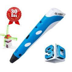 Printing Pen, Glyby Intelligent Drawing Doodle Art with ABS Filament Refill 3d Pen, Small Sculptures, 3d Drawings, Arts And Crafts Supplies, Doodle Art, Sewing Crafts, 3d Printing, Abs, Doodles