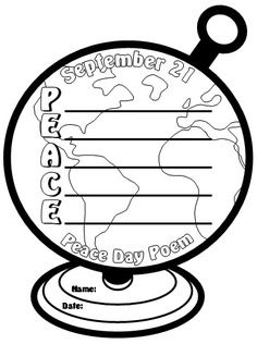 Peace Day Poetry and Poem Templates and Worksheets