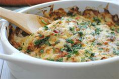 Chicken Dorito Casserole (she uses blue corn tortilla chips...my favorite)