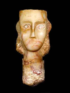 Sabean Alabaster Bust of a Woman - (LSO) Origin: Yemen Circa: 200 BC to 100 AD Dimensions: high x wide Collection: Biblical Medium: Alabaster Ancient Near East, Ancient Art, Arch Brows, Ancient Goddesses, 1st Century, Prehistoric, Deities, Archaeology, American History