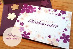 {free printable} Bridal Party Notes: A fun, creative way to say 'Will you be my bridesmaid?'