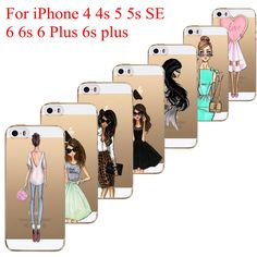 Beautiful Love Girls Dress Shopping Patterns Soft TPU Back Case Cover For iphone 4 4s 5 5s SE 5C 6 6s 6 plus 7 7plus Phone Cases #>=#>=#>=#>=#> Click on the pin to check out discount price, color, size, shipping, etc. Save and like it!