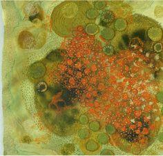 embroidery - lichen