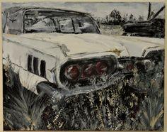 Abandoned car - Inez Ribeiro Acrylic on canvas Mixed media