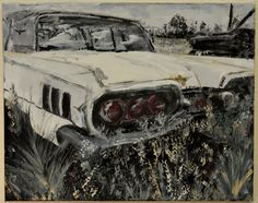 Abandoned car - Inez Ribeiro Acrylic on canvas Mixed media