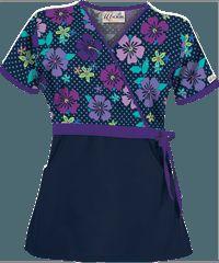 Print Scrub Tops, Print Scrubs and Medical Uniform Tops by UAScrubs Dental Scrubs, Nurse Scrubs, Medical Uniforms, Work Uniforms, Navy Scrubs, Floral Tops, Floral Prints, Uniform Advantage, Scrub Tops