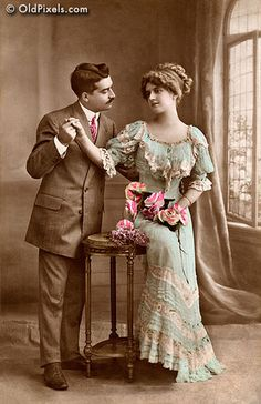 Victorian romance - by OldPixels.com, via Flickr. I hope they married and lived a long, happy life.