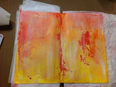 Art journal background in Moleskine Sketchbook by Faith Shaffer