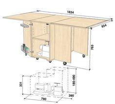 Table For Small Space, Small Spaces, Sewing Table, Amazon Fr, Floor Plans, Loft, Bed, Furniture, Home Decor
