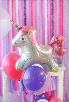 festa infantil com tema unicornio