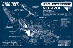 Star Trek Enterprise Blueprint Poster