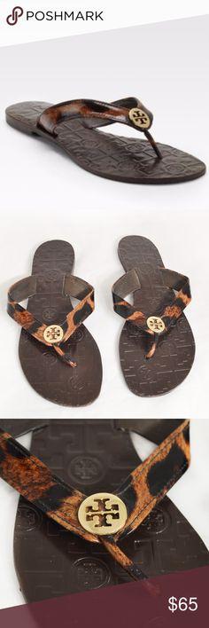 008e53b5817a Tory Burch THORA Leopard Print Leather Sandals