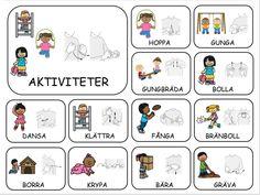 Teckenkartor – Fröken Ljusta Sign Language Book, Learn Swedish, Swedish Language, Flashcards For Kids, Learn English Grammar, Farm Theme, In Kindergarten, Preschool Activities, Homeschool