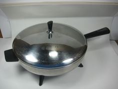 "Vintage Farberware #310 Electric Frying Pan 12"" - My grandmother used to bake cornbread in one of these."