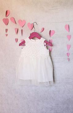 """Sukienka dziecięca """"Delikatny Przebiśnieg&... - Monika_Magdalena - Sukienki dla niemowląt"""