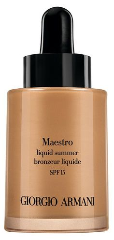 Create an amazing, natural-looking summer glow with new Maestro Liquid Summer Bronzer by Giorgio Armani Beauty. Giorgio Armani Beauty, Armani Makeup, After Sun, Mascara, Selena Gomez Hair, Cheek Makeup, Bronzer Makeup, Face Makeup, Natural Glow