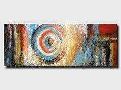 Original Large  Abstract painting - 24 X 72 Inches-by Artist JMJartstudio-Deep Within-Wall art-wall decor - orange painting-Oil painting