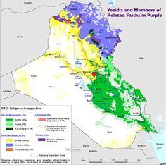 Iraq ethnic composition Map