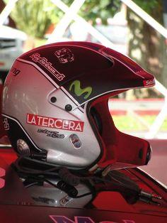 Casco Movistar Honda Racing Team.